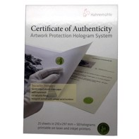 Hahnemühle Certificate of Authenticity (Echtheitszertifikat)