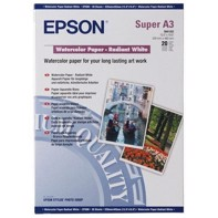 Epson Watercolor Paper Radiant White 188 g/m2, A3 + - 20 Blättern